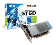 Видеокарта MSI Nvidia GeForce GT 610 GDDR3 1024 Мб (N610GT-MD1GD3H/LP V2)