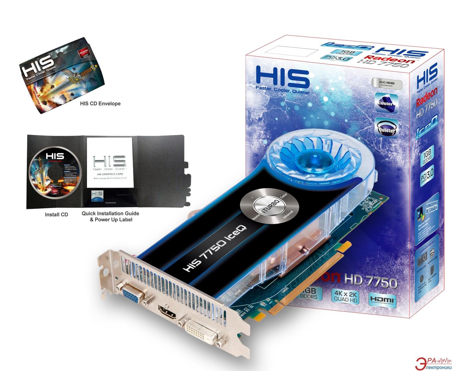 Видеокарта HIS ATI Radeon HD 7750 IceQ GDDR5 1024 Мб (H775Q1G)