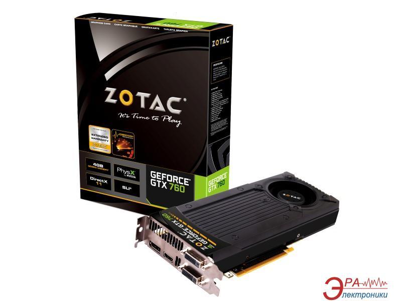 Видеокарта Zotac Nvidia GeForce GTX 760 GDDR5 4096 Мб (ZT-70406-10P)