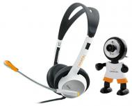 Веб-камера + Гарнитура A4-Tech CNR-CP8 Black\White\Orange