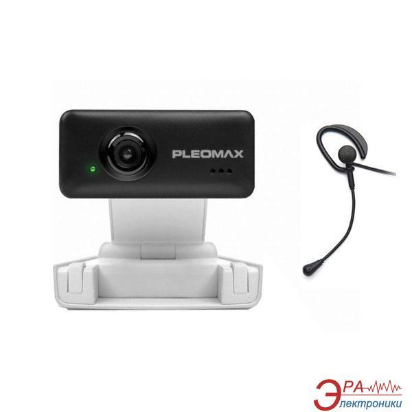 Веб-камера + Гарнитура Pleomax W-300W + гарнитура (W-300W)